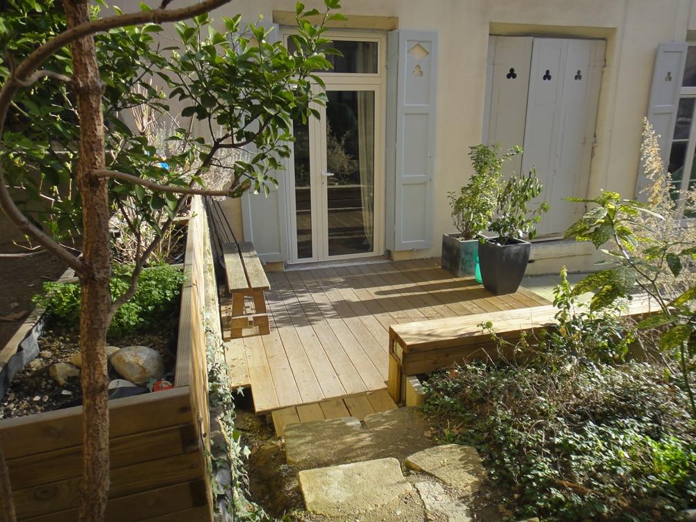 A vendre croix rousse rez de jardin avec terrasse immo for Immobilier avec terrasse paris