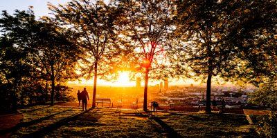 Un coucher de soleil sur Lyon