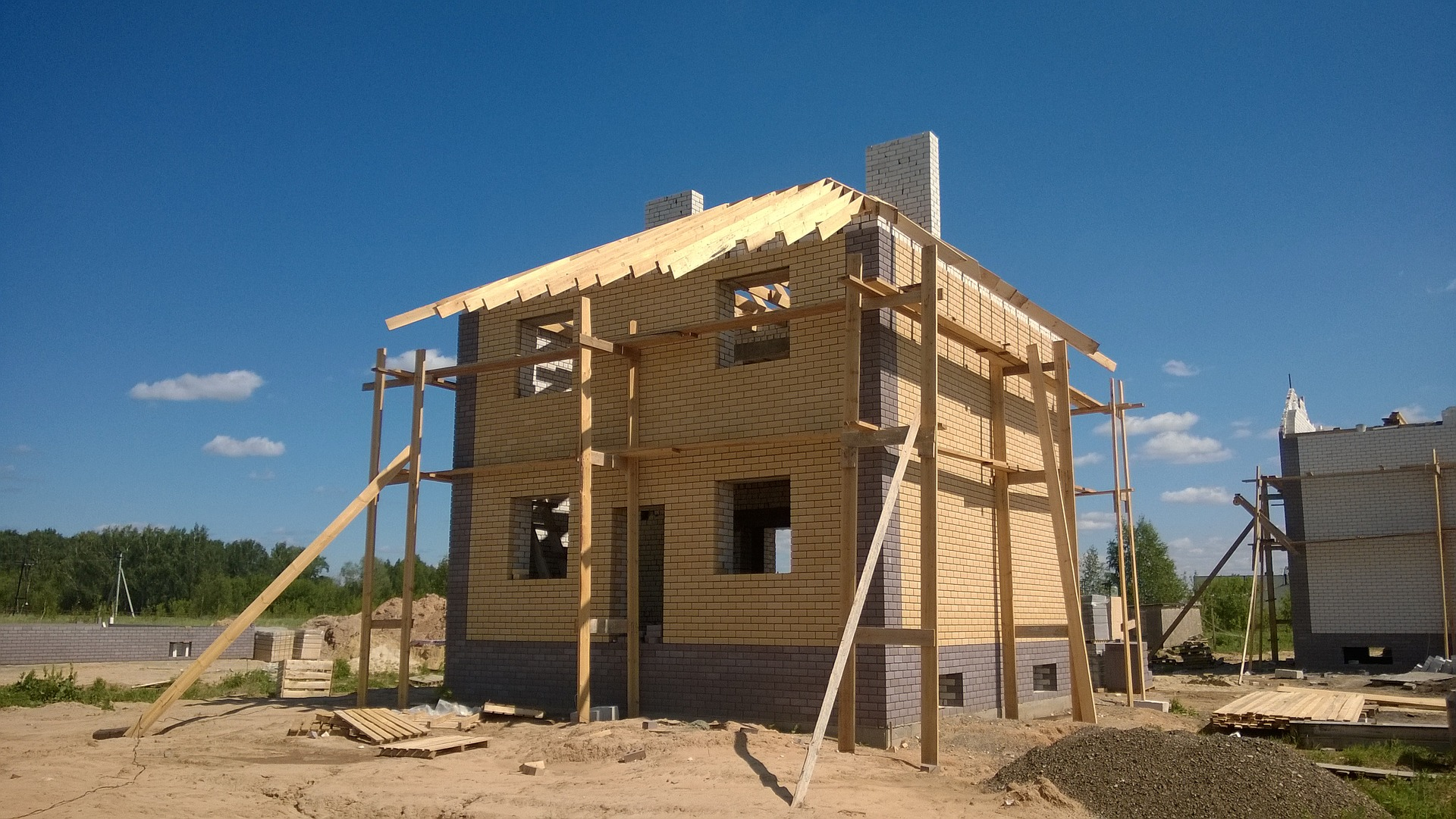 Une maison en construction