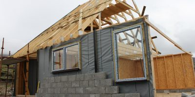 Maison individuelle en cours de construction